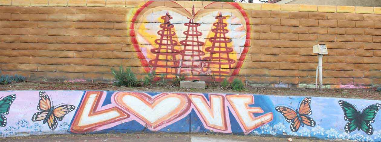 Watts Towers Love Wall
