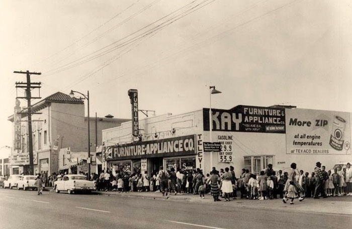 Old image of Watts furniture store
