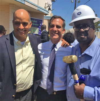 Mayor Garcetti and Mac Shorty