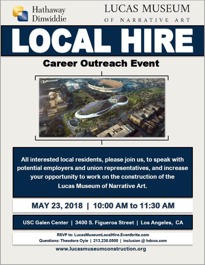 Lucas Museum Career Outreach Event May 23, 2018