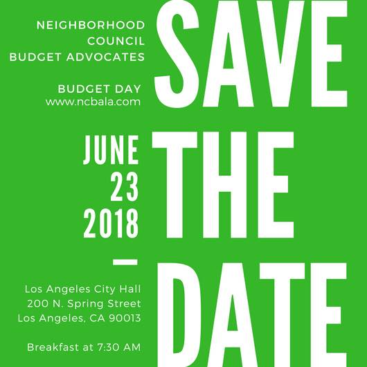 Budget Day Save the Date June 23, 2018