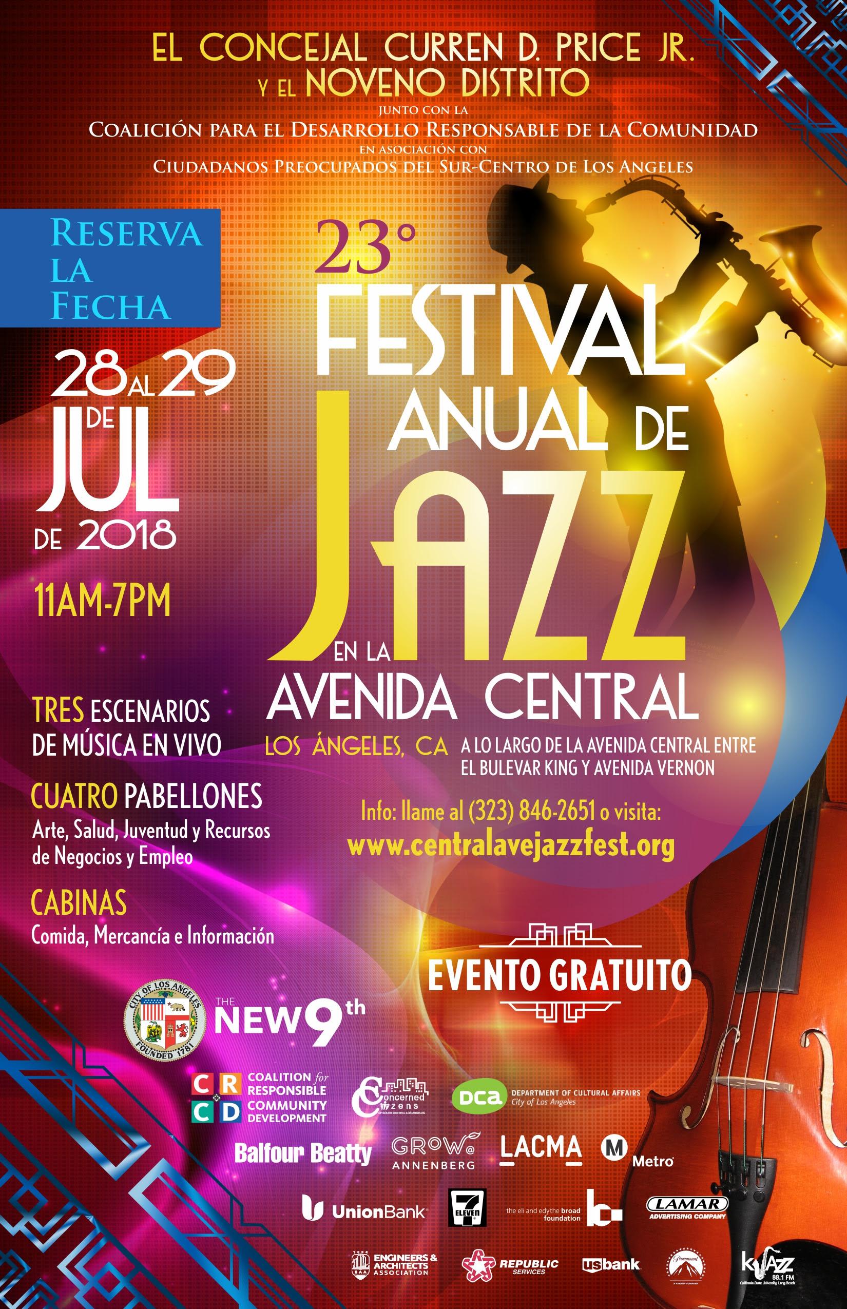 Jazz Festival Flyer in Spanish