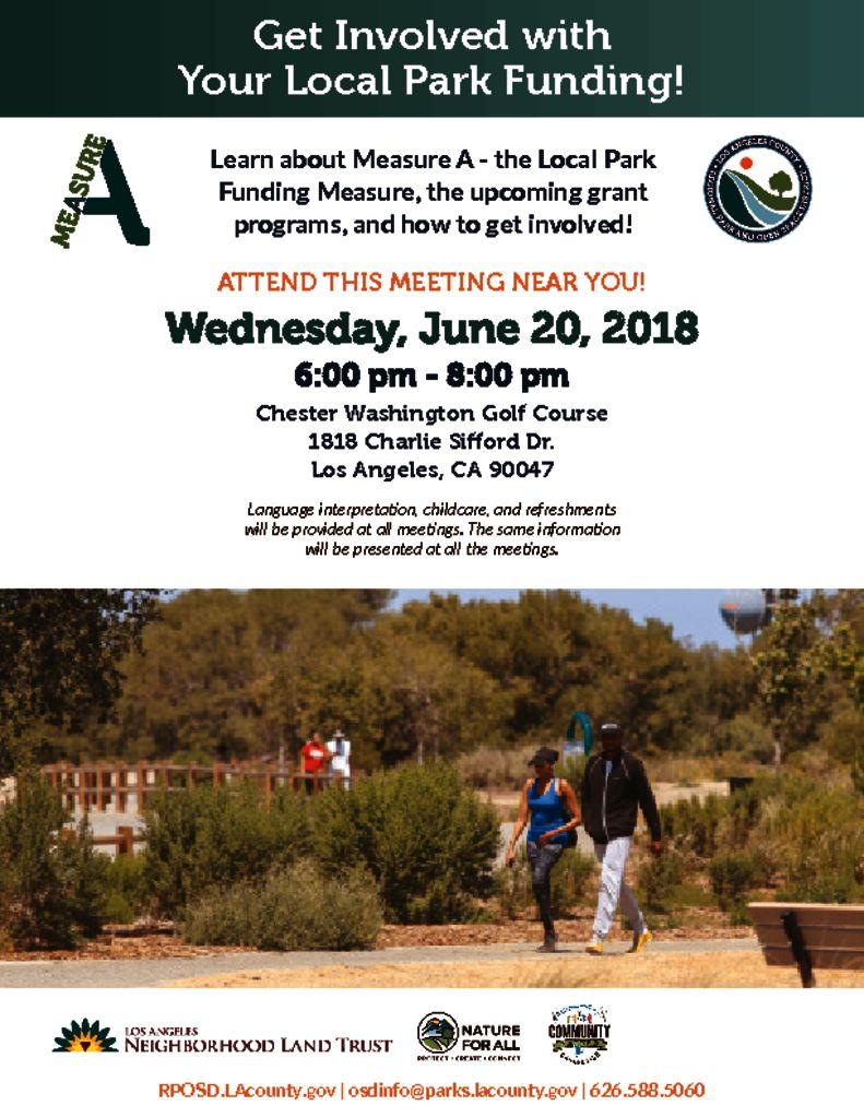 Measure A Parks Meeting Announcement