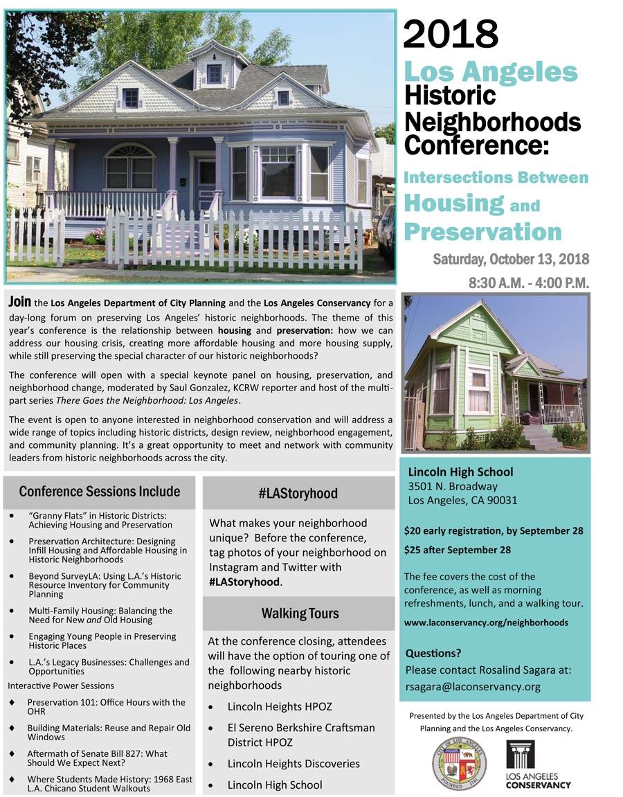 LA Historic Neighborhoods Conference