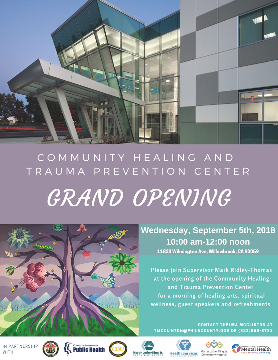 Grand opening of healing and trauma prevention center