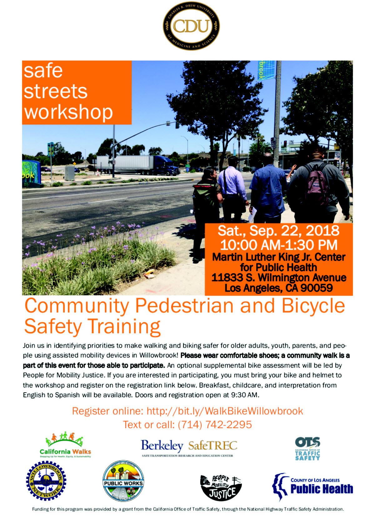Pedestrian and bike safety training
