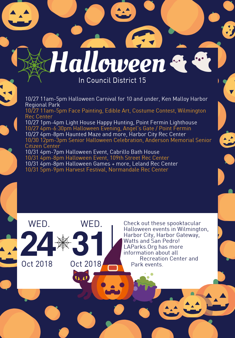 Halloween 2018 events in Council District 15