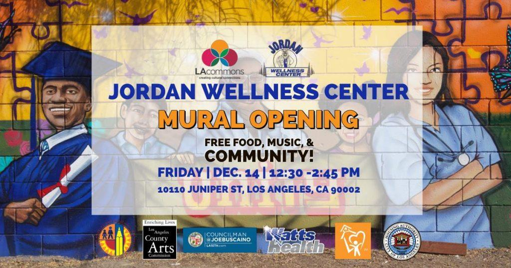 Jordan Wellness Center Mural Opening Celebration