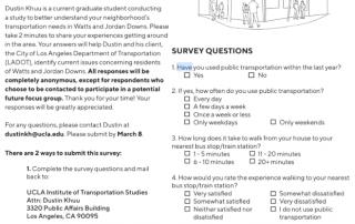 Watts transportation survey
