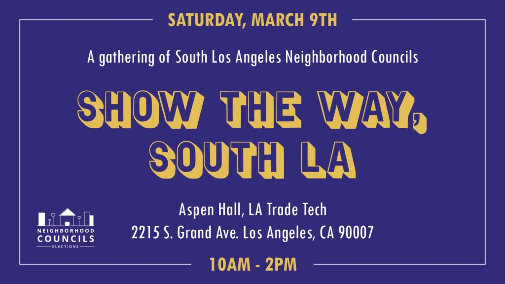 Candidate Workshop: Show the way, South LA