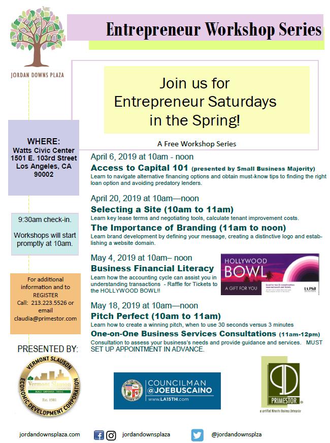Entrepreneur Workshops