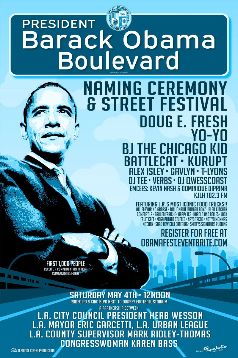 Obama Blvd Naming Ceremony