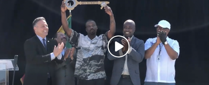 Jay Rock received the Key to Watts