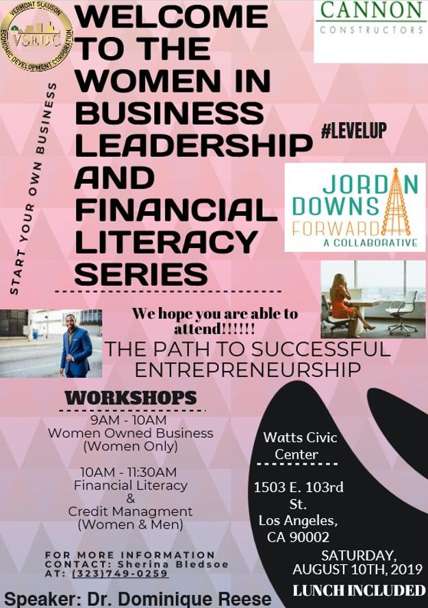 Women in Business Leadership & Financial Literacy Series