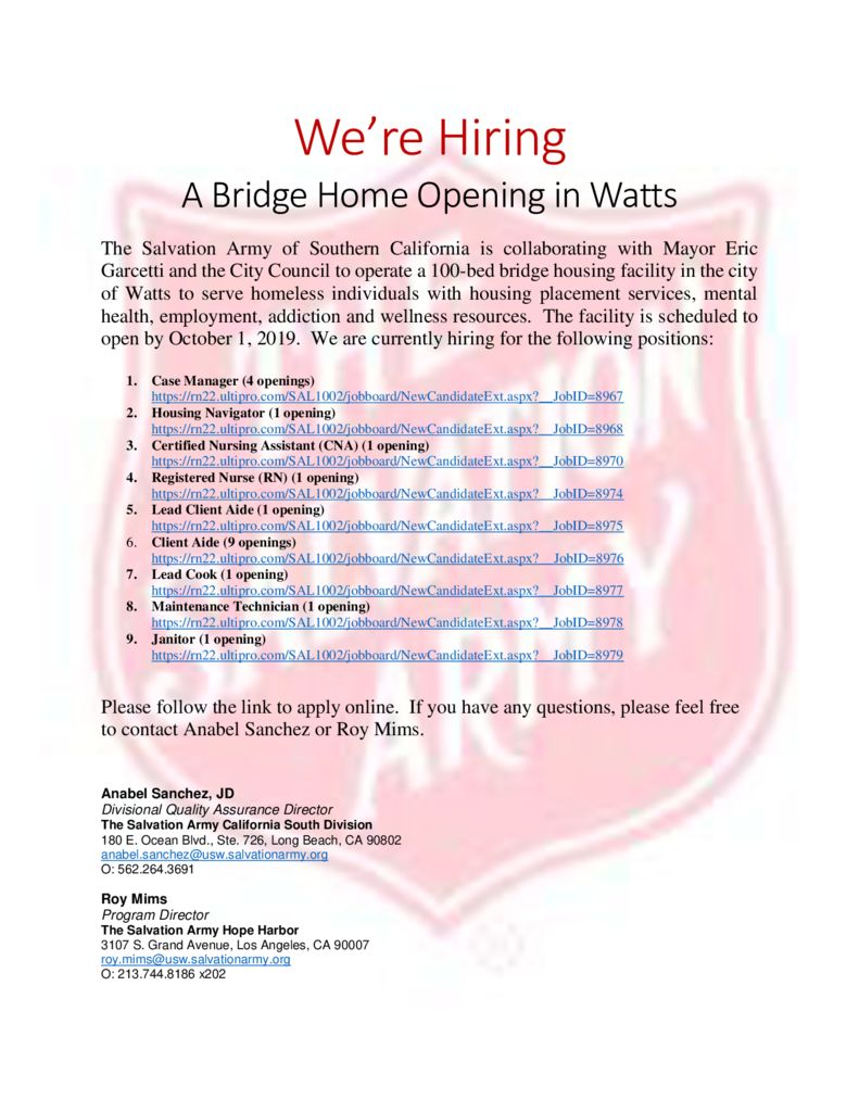 thumbnail of ABH Watts Salvation Army Hiring Flyer