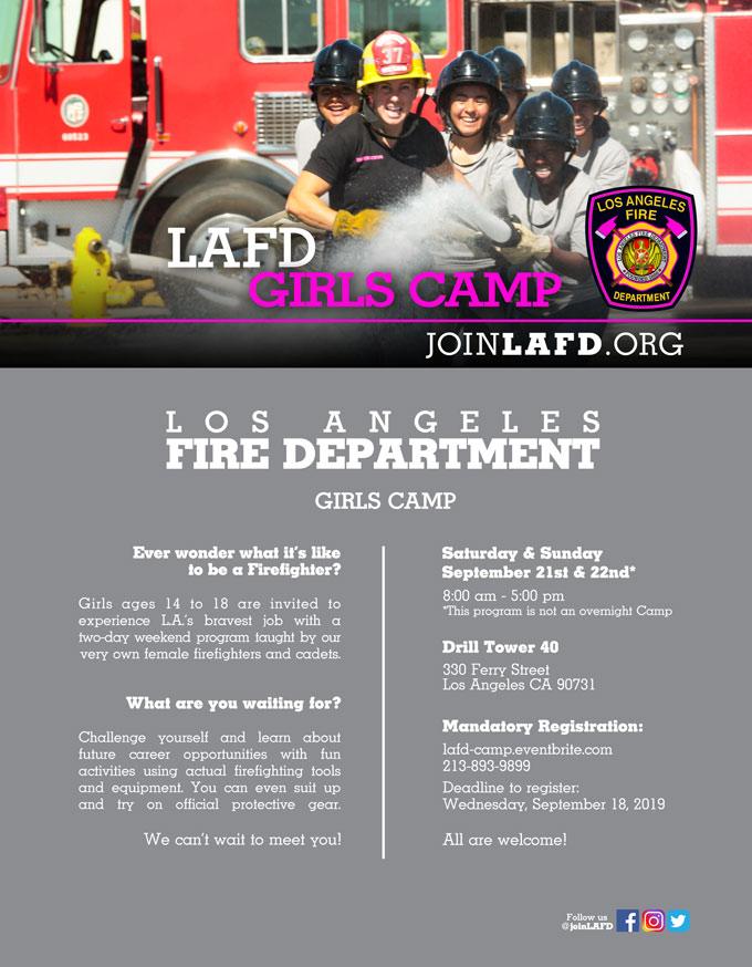 Girls Camp LAFD