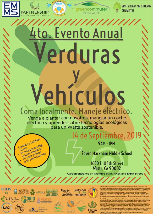 Verduras y vehiculos