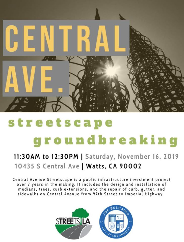 Central Ave streetscape groundbreaking