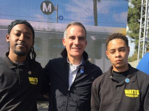Nolan Moore, Mayor Garcetti, Storm Hopkins