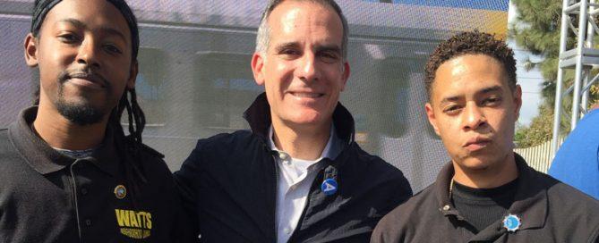 Nolan Moore, Mayor Garcetti, Storm Hopkins