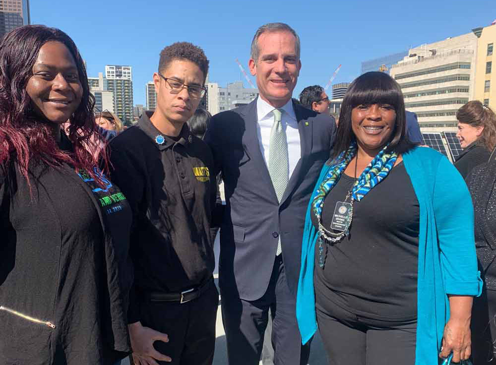 Watts Neighborhood Council with Mayor Garcetti