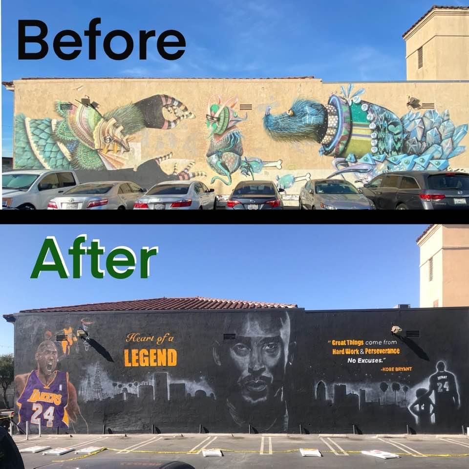 Kobe Mural Before After