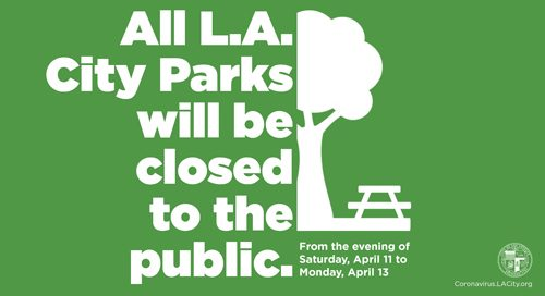 Parks closed