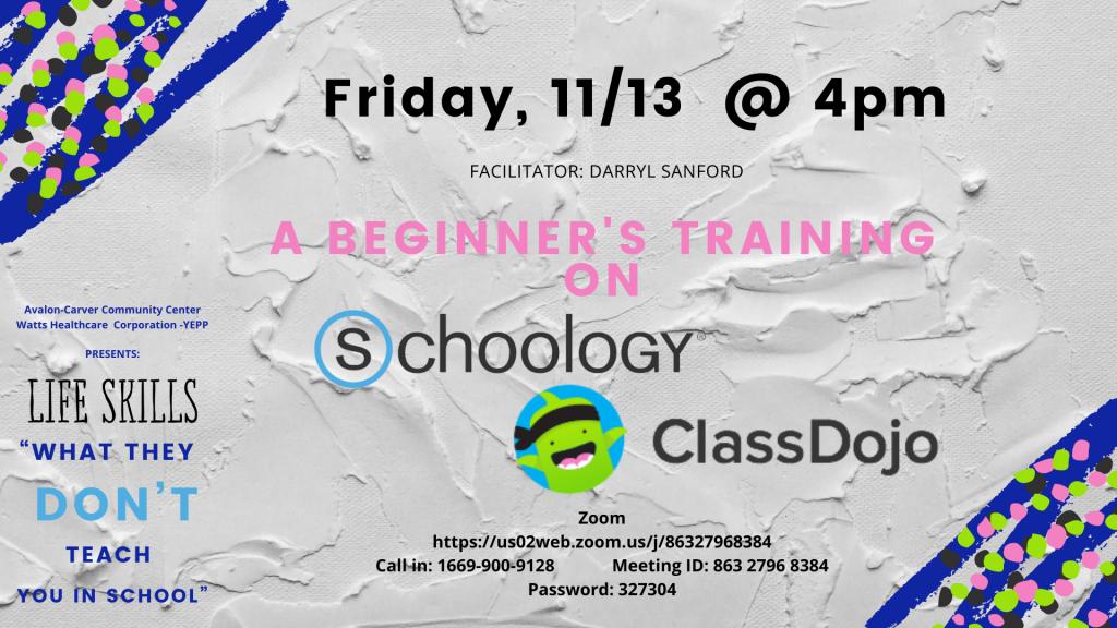 Training on Schoology & Class Dojo