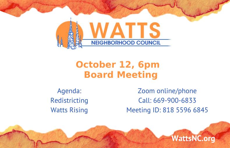Watts October 12