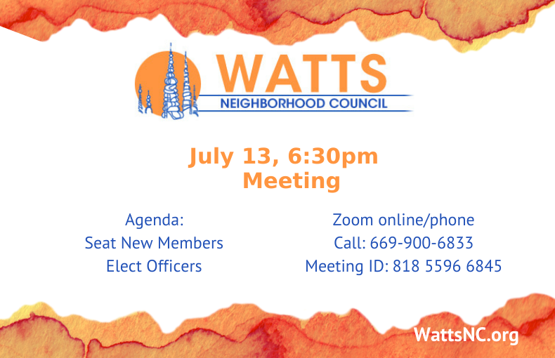 Watts July Meeting