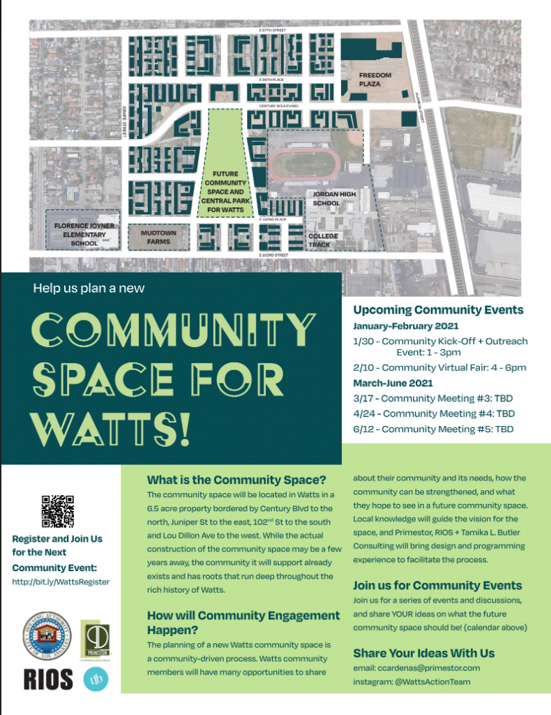 Watts Community Space Event Calendar