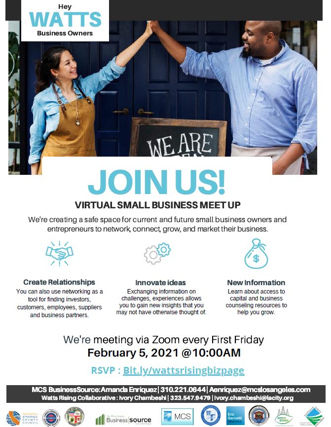 watts small business meet up