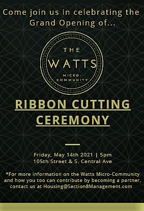Watts Micro-Community Ribbon Cutting