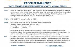 Kaiser construction notice