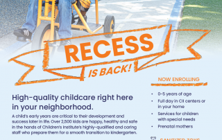 Recess is back